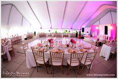 Millennium Park Rooftop Terrace Wedding tent room shot