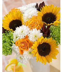 Sunflower Bouquet   Sunflower Meadow Flower Bouquet By Post   Bunches.co.uk
