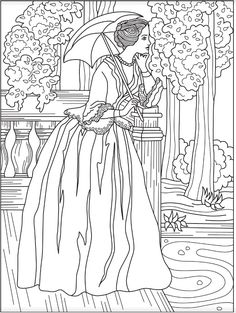 victorian woman coloring page colorish free coloring app for adults by goodsofttech