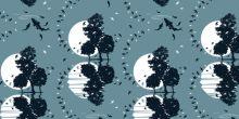 Blue dregrees patterns