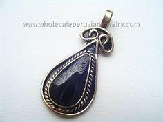 Black Onyx Stone, Inca Pendanthttp://www.wholesaleperuvianjewelry.com