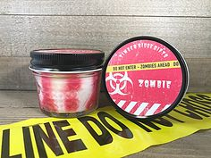 A personal favorite from my Etsy shop https://www.etsy.com/listing/538503295/zombie-horror-candle-soy-wax-candles-man