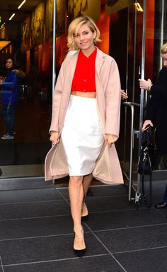 Sienna Miller Is Effortless - Sienna Miller in Miu Miu