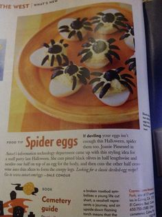 Halloween hors d'oeuvres from Sunset Magazine October 2004