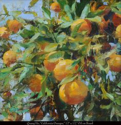 """Quang Ho, """"California Oranges,"""" 12x12, Oil on Board"""