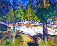 Forest by Edvard Munch - 1912