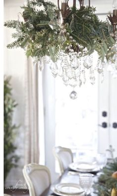 French Country Cottage Christmas Home Tour - I am so excited to share a peek at our home dressed for Christmas this year. I feel like I loaded 347 photos already this morning to this . French Country Christmas, French Country Cottage, Farmhouse Christmas Decor, French Country Decorating, Christmas Home, Christmas Tables, Christmas 2019, Cottage Christmas Decorating, Xmas