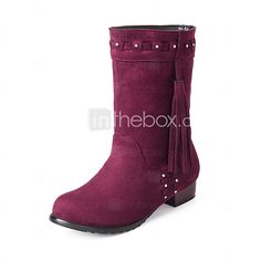 Women's Boots Spring Fall Winter Comfort Fleece Office & Career Casual Athletic Low Heel Sparkling Glitter Tassel Braided StrapBlack Blue - USD $38.99 ! HOT Product! A hot product at an incredible low price is now on sale! Come check it out along with other items like this. Get great discounts, earn Rewards and much more each time you shop with us!