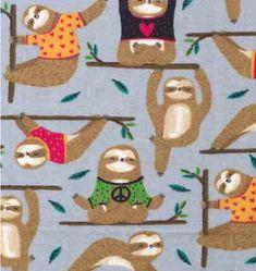 Sloth Yoga Flannel Pajama Pants Sleep Bottoms Yoga lounge for the Yoga lover!