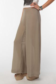 I love wide leg pants..and Urban Outfitters seems to have a great selection.