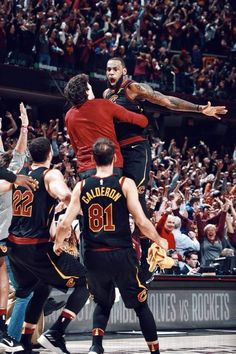 66c63aafc1d Lebron James game winners in 2017-2018 end up celebrating with his rook Cedi  Osman