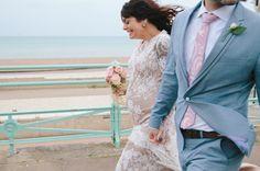 Pregnant Bride, Brighton Pier Wedding
