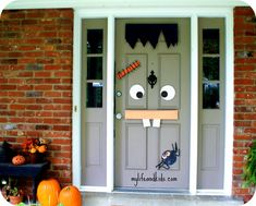 celebrating halloween with food allergies halloween front doorshalloween door decorationshalloween - Front Door Halloween Decorations