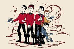 Star Trek Red Shirts T-Shirt $14.95