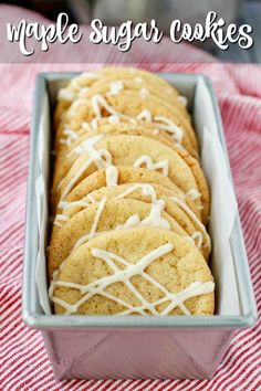 Maple sugar Christmas Cookies with a maple glaze. Holiday Cookie Recipes, Easy Cookie Recipes, Holiday Baking, Ginger Molasses Cookies, Icing Ingredients, Sugar Cookie Bars, Christmas Sugar Cookies, Chocolate Chunk Cookies, Vanilla Sugar