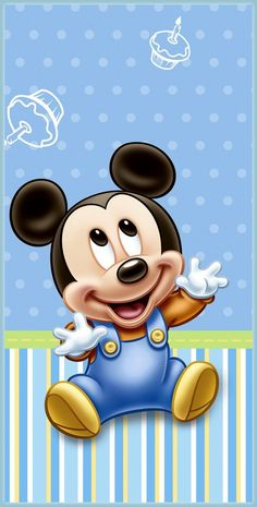 Mickey Mouse Baby Poster - 2 Sizes Available Disney Kids Poster Pixar & Garden Baby Mickey Mouse, Festa Mickey Baby, Mickey Mouse And Friends, Mickey 1st Birthdays, Mickey Mouse 1st Birthday, Image Mickey, Miki Mouse, Baby Disney Characters, Retro Disney