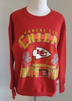 ebcd8927e Kansas City Chiefs Sweatshirt Ladies Sz XL Red ABC Monday Night Football  9642