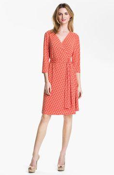 Tahari Printed Jersey Wrap Dress