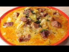 Lucskos káposztaleves, ahogy én készítem - YouTube Cheeseburger Chowder, Thai Red Curry, Hamburger, Make It Yourself, Fruit, Vegetables, Ethnic Recipes, Youtube, Food