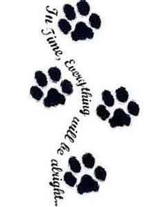 With or without paw prints. Either is fine. I just love the quote:)