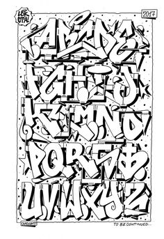 26 Letters of Style 5 Graffiti Alphabet is part of Science Images Art - Back atcha with more crazy dope graffiti alphabets from some style masta writers! Grafitti Letters, Graffiti Alphabet Styles, Graffiti Lettering Alphabet, Tattoo Lettering Fonts, Graffiti Characters, Alphabet Art, Lettering Styles, Lettering Design, Cursive Fonts Alphabet