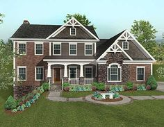 Plan W20069GA: Corner Lot, Northwest, Sloping Lot, Craftsman House Plans & Home Designs