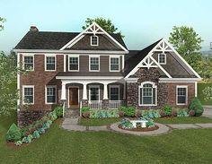 Plan W20069GA: Corner Lot, Northwest, Sloping Lot, Craftsman House Plans & Home Designs