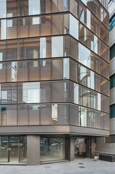 Image 4 of 16 from gallery of Dogok Office Remodeling / DIA Architecture. Photograph by Kyungsub Shin Modern Architecture Design, Commercial Architecture, Architecture Office, Facade Design, Exterior Design, Modern Buildings, Metal Facade, Building Exterior, Building Facade