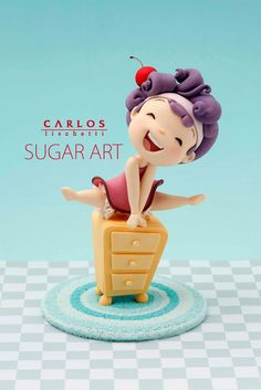 Little Jumping Girl Cake Topper by Carlos L