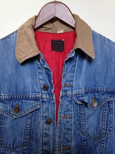 1960s Sears Roebucks denim jacket brown by twinflamesboutique