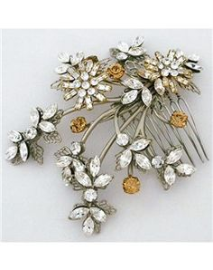 Paris by Debra Moreland Golden Bed Bridal Hair Comb