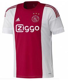 Ajax Jersey 2015 16 Away Red White Soccer Shirt New Football Shirts f49a57014