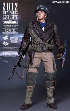 Captain America: Rescue Version - Deluxe Figur, Fertig-Modell, http://spaceart.de/produkte/cam003.php
