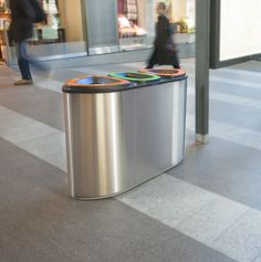 The FinBin® Bermuda is designed especially for terminals, retail facilities and hotels. Urban Furniture, Street Furniture, Recycling Bins, Canning, Interior Design, Home, Deco, Nest Design, Home Interior Design
