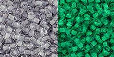 Gray Crystal //Glow Bright Green 28Grams Toho 11//0 Seed Beads Glow In The Dark