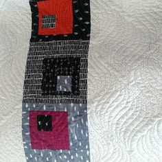 Fun modern quilt, quilted by Mountain Quiltworks