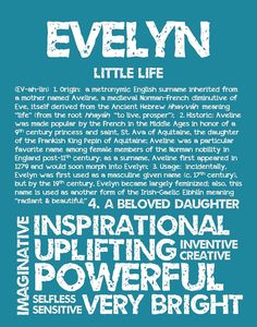 EVELYN Personalized Name Print / Typography Print / by OhBabyNames