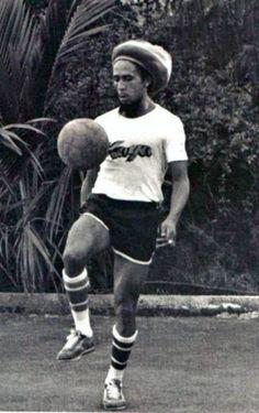 Retronaut - Bob Marley playing soccer