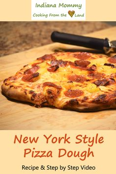 Dec 2018 - This New York Style Pizza Dough recipe is simple to do and is so versatile. You can make a thicker or thinner crust, cook it in the oven or on the grill and even freeze it for later. Pizza Dough Mixer, New York Style Pizza Dough Recipe, Best Pizza Dough, Good Pizza, Ny Pizza Crust Recipe, Home Made Pizza Dough Recipe, Pizza Recipes, Cooking Recipes, Quiche