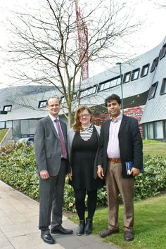 University Campus Suffolk visitors - Tim, Stef and Baba spent the day meeting business engagement and entrepreneurship staff.  They are looking to establish similar activities under the title of the 'Suffolk Quay'.   24th April 2015