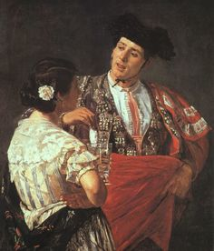 Offering the Panal to the Toreador, 1873, oil on canvas, Sterling and Francine Clark Art Institute at Williamstown, MA.