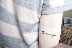 """What a sweet idea - """"We love you."""" In her grandmother's handwriting."""