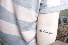 We love you. In her grandmother's handwriting. Sweet.