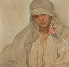 Alphonse Mucha (1860-1939), Nevěsta - 1917