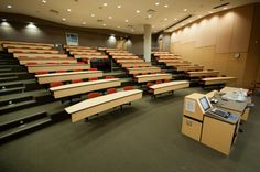 The Victoria Learning Theatre - a fantastic lecture room in the Irving K Barber Learning Center at the UBC Library, Vancouver, Canada