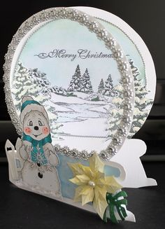 Best 11 Tattered Lace Snow Globe with Lights – SkillOfKing. Chrismas Cards, Christmas Cards 2018, Christmas Card Crafts, Homemade Christmas Cards, Xmas Cards, Homemade Cards, Holiday Cards, Acetate Cards, Christmas Snow Globes