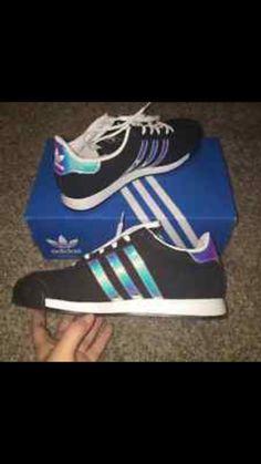 Adidas samoa black holographic iridecsent