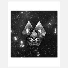 Cosmic Tiger Print 11x14 by Ali Gulec, $25, now featured on Fab.