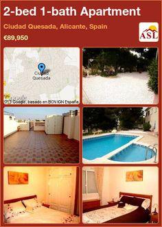 2-bed 1-bath Apartment in Ciudad Quesada, Alicante, Spain ►€89,950 #PropertyForSaleInSpain