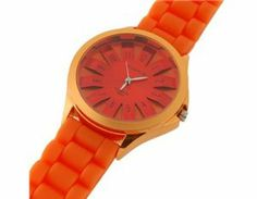 Tanboo WoMaGe Chrysanthemum Shaped Women's Wrist Watch with Textured Blocky Silicone Band (Orange) by Tan Watches. $9.99. Sports Fan Watch. Watch. A fashionable watch keeps you in time and in.Unique chrysanthemum shaped watch dial covered by the alloy shell looks very stylish and elegantIts textured blocky silicone watch band is adjustable and comfortableIts watch dial covered by alloy shell is hard and durableElectronic movement with three-needle design: an hour hand,a ...